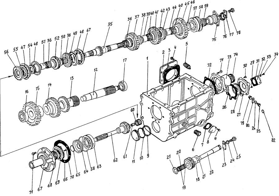 Зубренок схема переключения передач